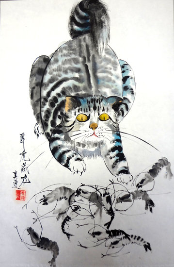 Artwork >> Zhen Lianxiu >> on the alert