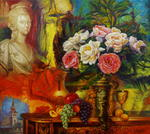 Yury Fomichev -  Still-life. Bouquet for the queen
