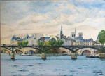 Jean-Louis Barthelemy - The paris - the pont des arts