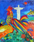 Marie-France Busset - THE ROOSTER DONE SON CARNIVAL At RIO