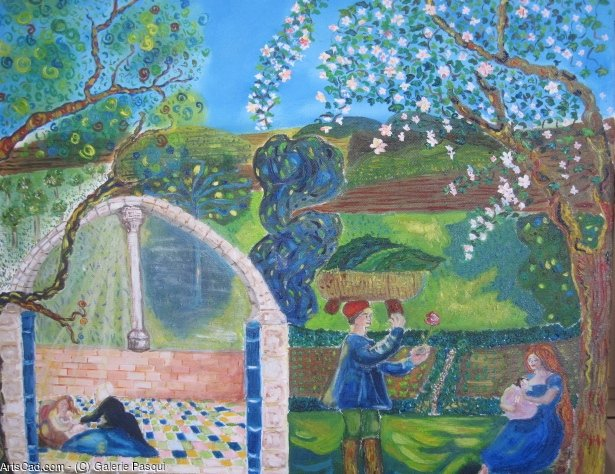 Artwork >> Pasqui R >> Seasons delights triptych Spring Part 1