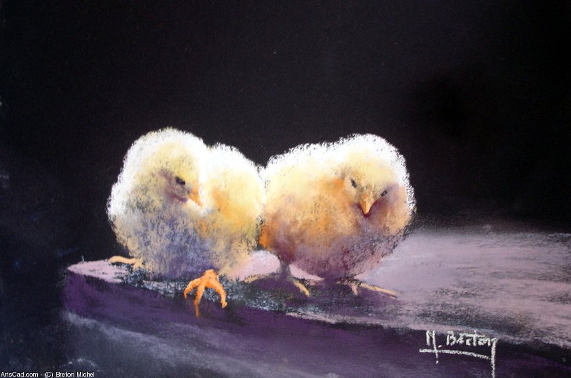 Artwork >> Breton Michel >> two chicks