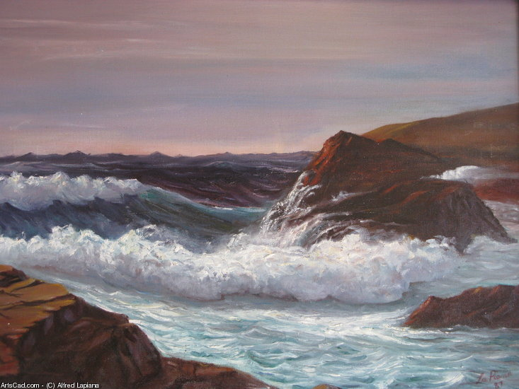 Artwork >> Alfred Lapiana >> Raging Sea