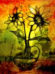 Silvia A. Ramos - Dos Girasoles / Two Sunflowers