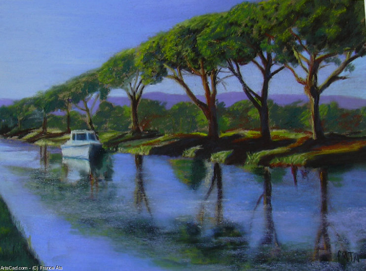Artwork >> France Ata >> channel of the  noon