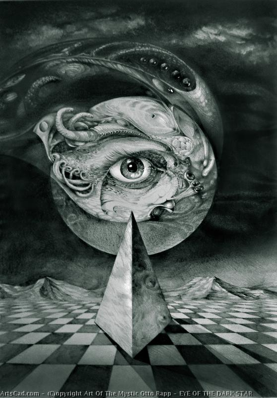 Artwork >> Art Of The Mystic Otto Rapp >> EYE OF THE DARK STAR