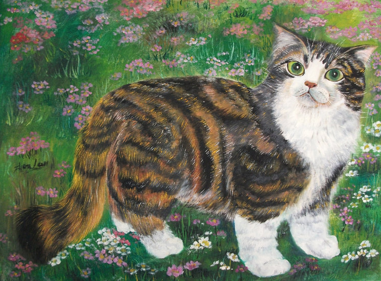 Artwork >> Zhen Lianxiu >> beautiful cat