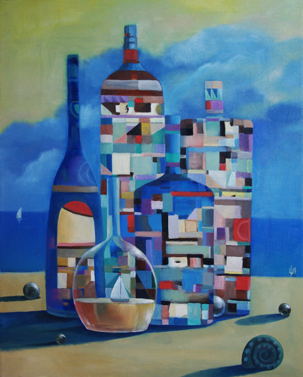 Artwork >> Izya Shlosberg >> Bottles