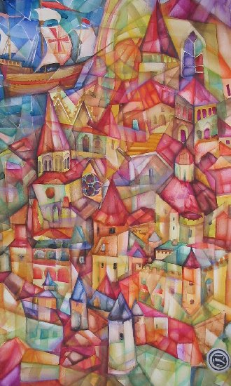 Artwork >> Oxana Zaika >> city SOLD.