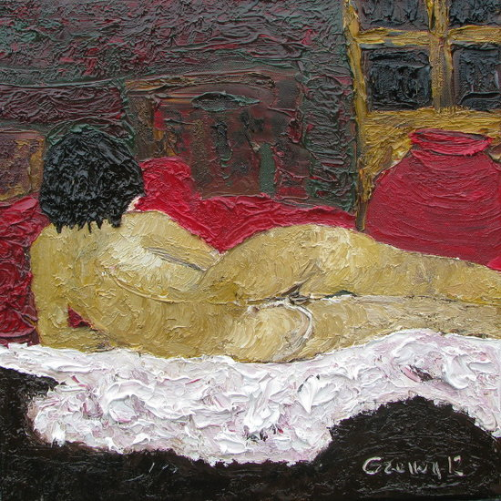 Artwork >> Marc Grenou >> Nude in the bed