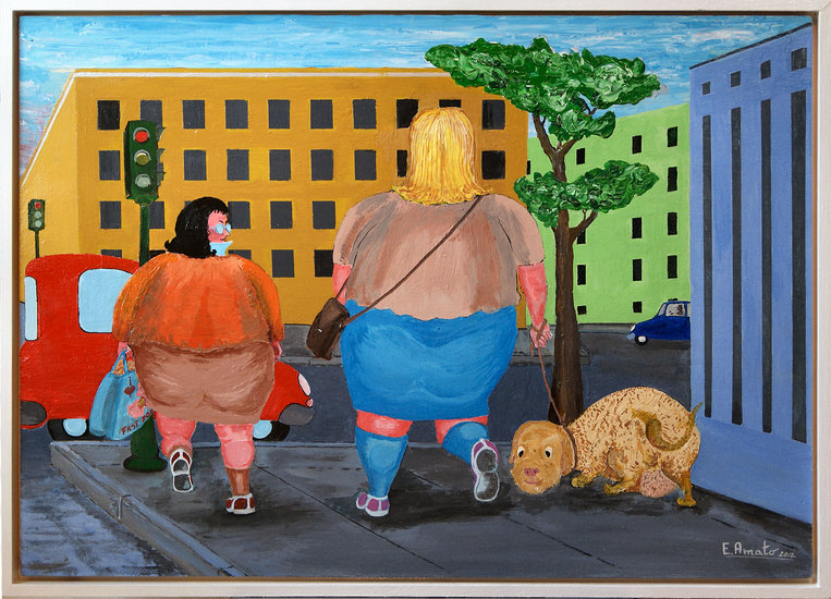 Artwork >> Erasmo Amato >> .. a small walk after the 'fast food' ..