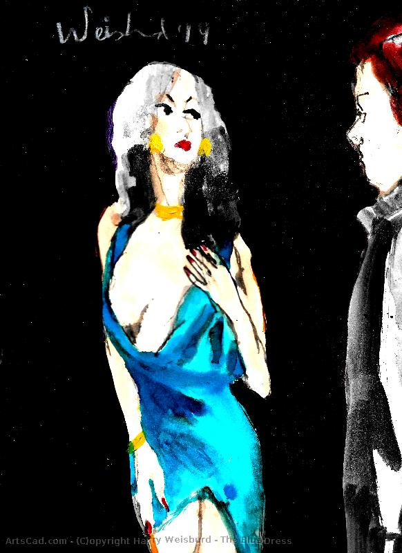 Artwork >> Harry Weisburd >> The Blue Dress