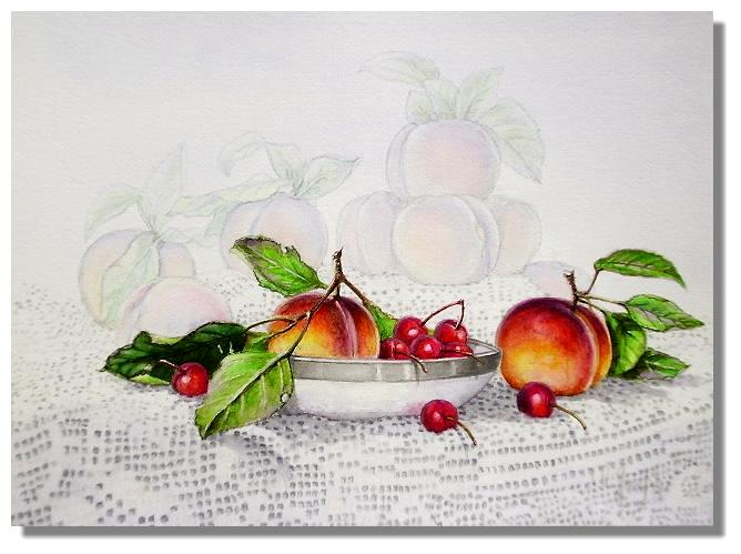 Artwork >> Immanuel Joseph >> Peaches Cherries and Lace