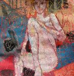 Jacques Donneaud - Naked girl seated