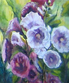 Artwork >> Denise Gagnon >> Hollyhocks