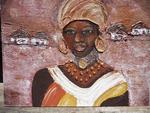 Monique Deleu - african women with golden earings