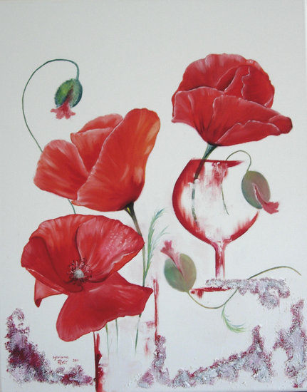 Artwork >> Sylviane Petit >> COQUELICOTS COCKTAIL