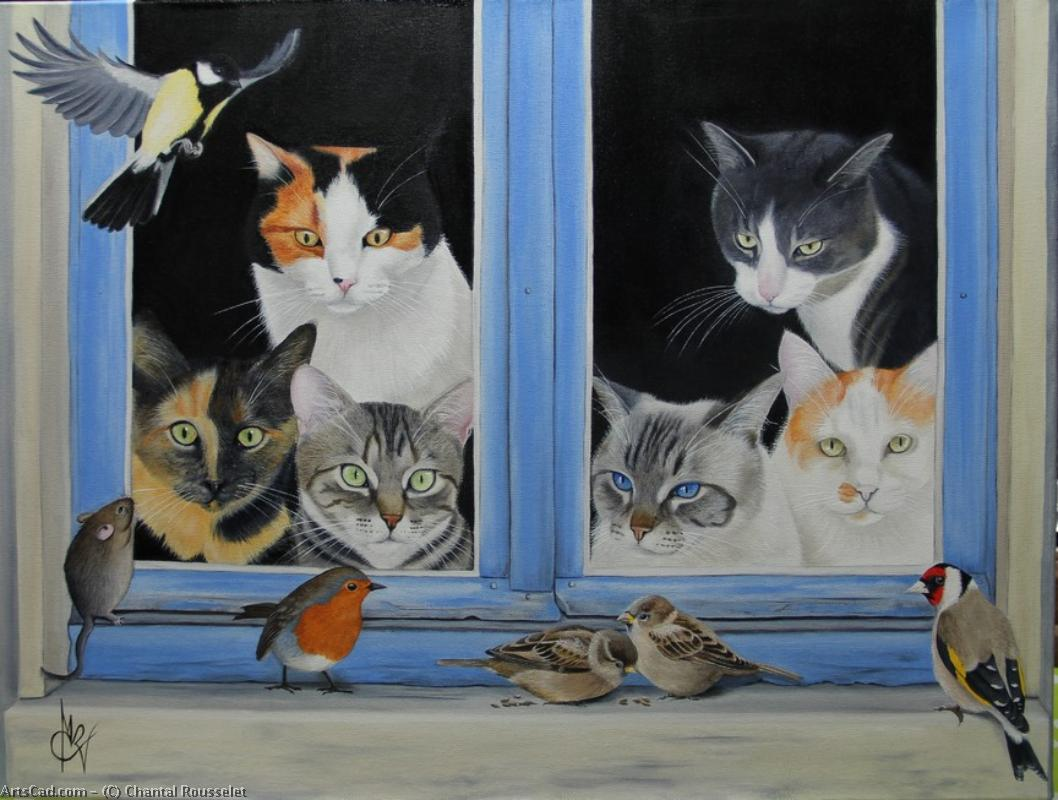 Artwork >> Chantal Rousselet >> the cats window on