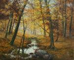 Louis Tellier - The forest in Autumn Colettes