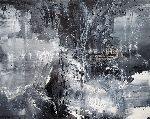 Ovidiu Kloska - BETWEEN THE BLACK AND DIVINE 4 LIGHTSCAPE MINDSCAPE BLACK GREYS AND WHITE ABSTRACT ONEIRIC ART BY O KLOSKA