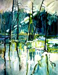 Catherine Suchocka - The Forest with blue