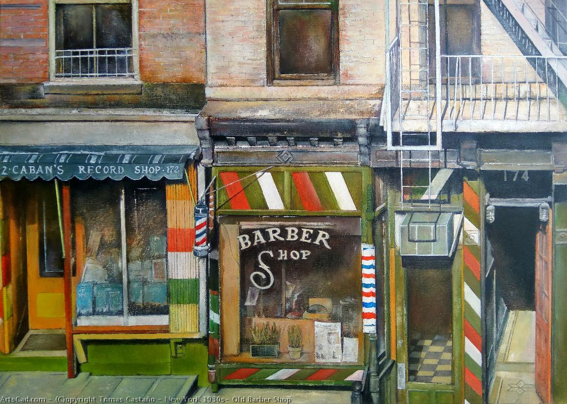 Artwork >> Tomas Castaño >> new york 1930s- old barber shop