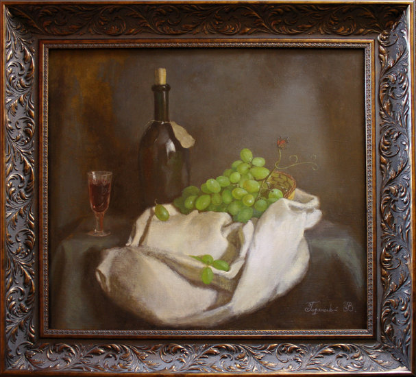 Artwork >> Vadim Goryanskiy Artist Painter Ukraine >> Still life with wine