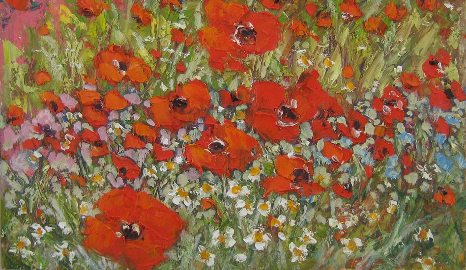 Artwork >> Mima Kostova >> Poppies field