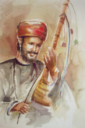 Artwork >> Classical Indian Art Gallery >> STREET MUSICIAN
