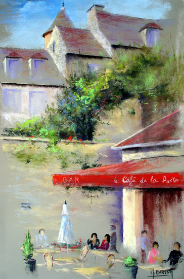 Artwork >> Breton Michel >> cafe in there post
