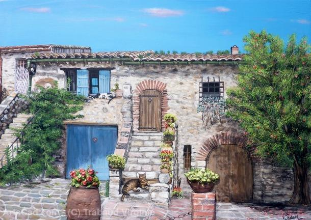 Artwork >> Trabaud Virginie >> house of Provence