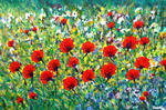 Leonard Shane - Field of Brilliant Red Flowers