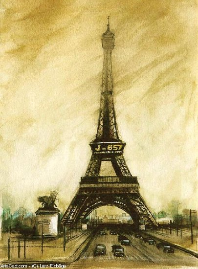 Artwork >> Larz Eldbåge >> The Tower Eiffel, Paris