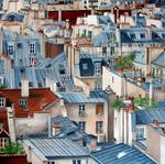 Marie-Claire Houmeau - the Paris up and  his  roofs