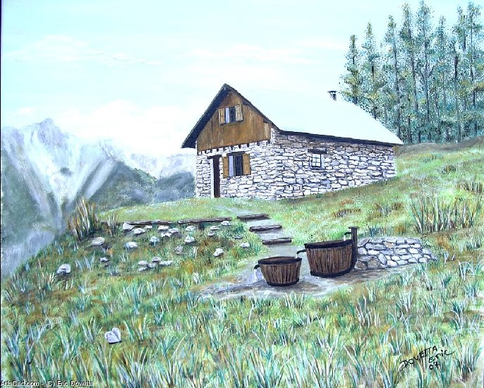 Artwork >> Eric Dovetta >> COTTAGE D'ALPAGE