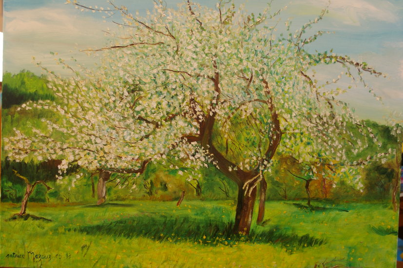 Artwork >> Mazouz Patrice >> fruit blossoms in an orchard h / t
