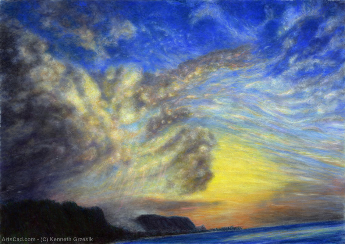 Artwork >> Kenneth Grzesik >> Secret Beach Sunset