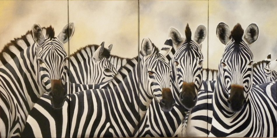 Artwork >> Chantal Rousselet >> The zebras