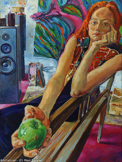 Artwork >> Klaus Steigner >> Eva with apple