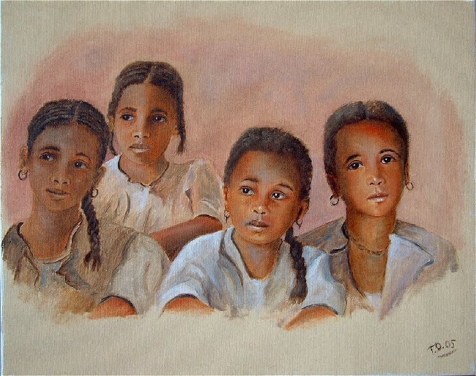 Artwork >> Till Dehrmann >> African girls