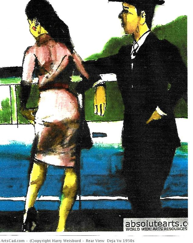 Artwork >> Harry Weisburd >> Rear View  Deja Vu 1950s