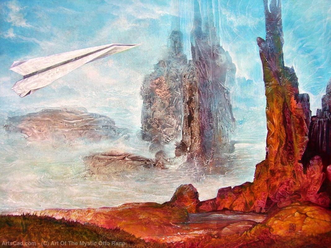 Artwork >> Art Of The Mystic Otto Rapp >> FLY-OVER WITH BOGOMIL'S SHUTTLE