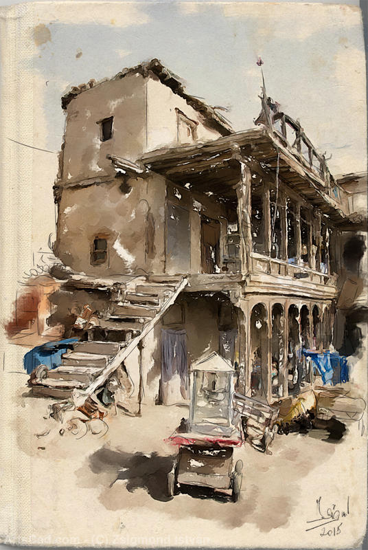 Artwork >> Zsigmond István >> Old ruined building