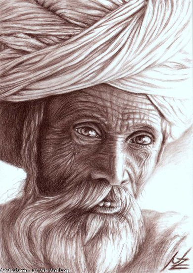 Artwork >> Arts And Dogs >> Old Indian Man