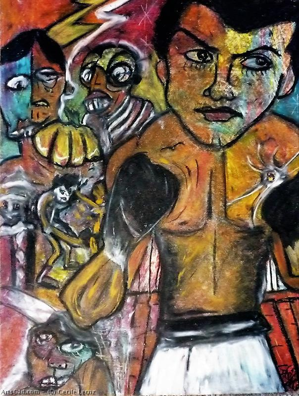 Artwork >> Cecile Lecoz >> Rock'n'roll in boxing