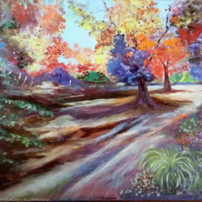 Artwork >> Salaun Margo >> Floral park of high britain in autumn