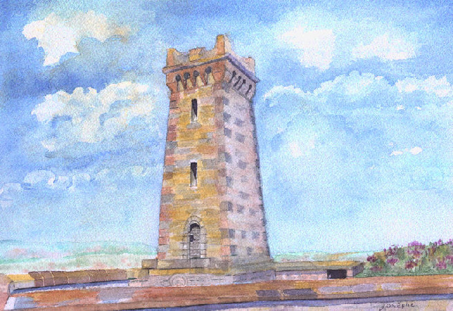 Artwork >> Josèphe Gravier >> The tower from there Miotte at Belfort