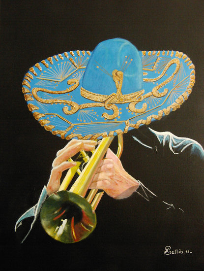 Artwork >> Jean-Claude Selles Brotons >> El Mariachi El Jaliso - Mexico