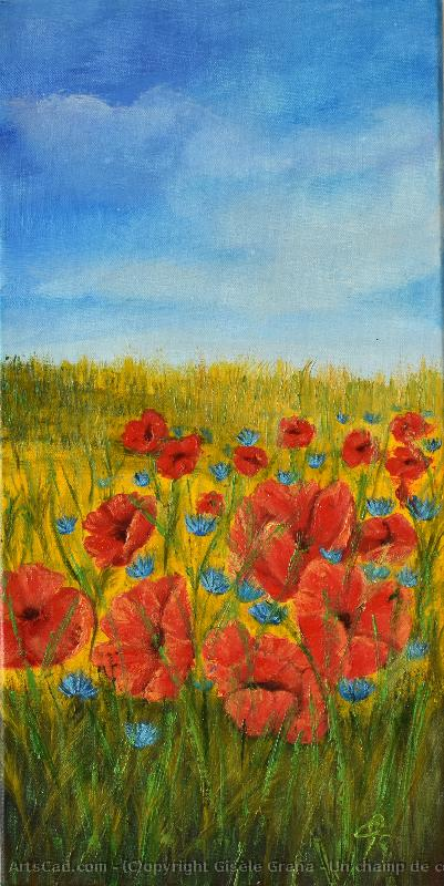 Artwork >> Gisèle Grana >> A field of poppies