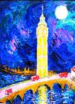 "Eva Kudukhashvili - ""Big-Ben"".oil on cardboard.70x50.cm.2011y.$20000"